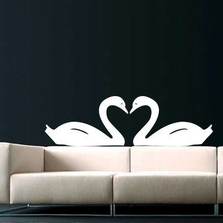 Swans Love Vinyl Sticker Wall Art