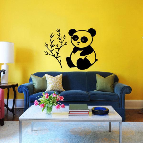 Cute Panda Vinyl Sticker Wall Art - Free Shipping On Orders Over $45 ...