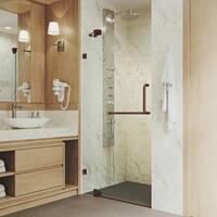 VIGO Pirouette 42-inch Pivot Shower Door Clear/Oil Rubbed Bronze