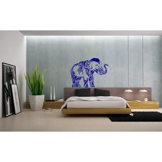 Indian Elephant Vinyl Sticker Wall Art