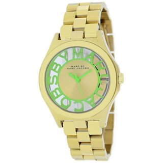 Marc Jacobs Women's MBM3295 'Henry Skeleton' Gold-Tone Stainless steel Watch