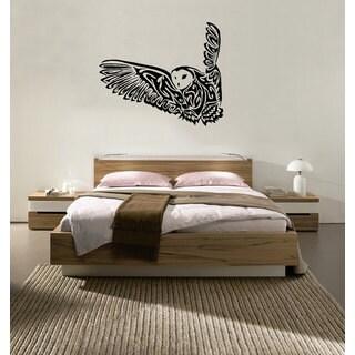 Flying Owl Vinyl Sticker Wall Art