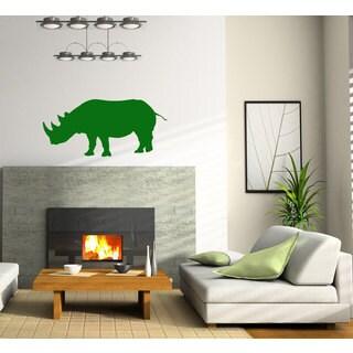 Rhino Vinyl Sticker Wall Art