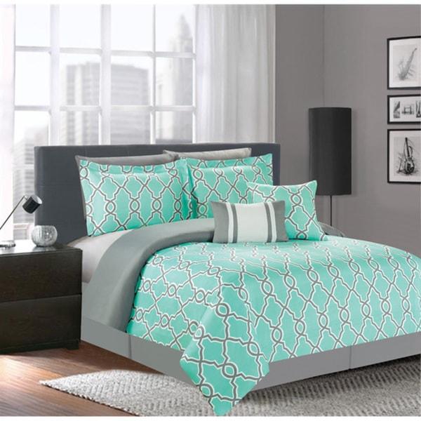 Jenny Teal 7-piece Comforter Set