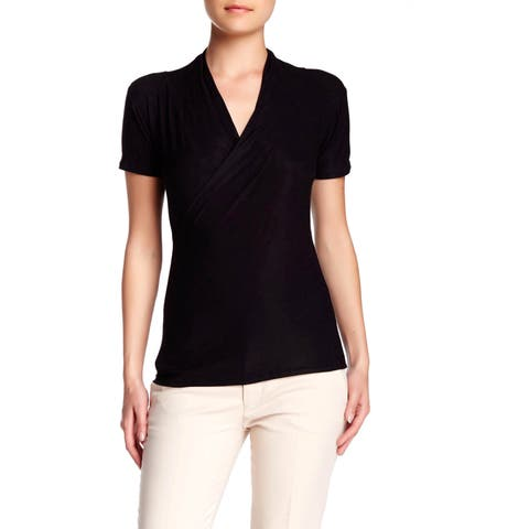 Women's Rayon Jersey Crossover Tops -