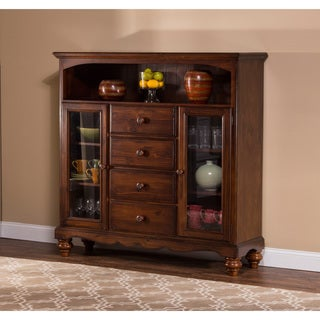 Hillsdale Furniture's Pine Island 4-drawer Dark Pine Baker's Cabinet