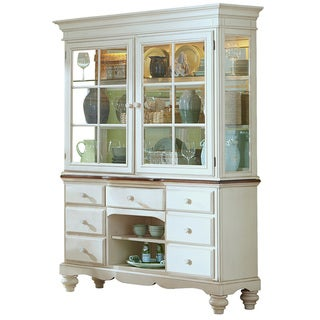 Hillsdale Furniture's Pine Island Old White Buffet and Hutch