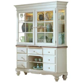 Hillsdale Furnitures Pine Island Old White Buffet And Hutch