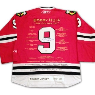 NHL Chicago Blackhawks Bobby Hull Red Career Jersey