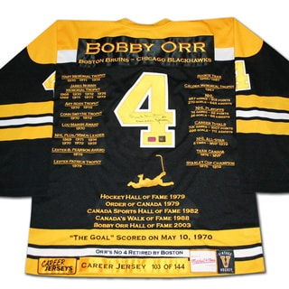 NHL Boston Bruins Bobby Orr Career Jersey