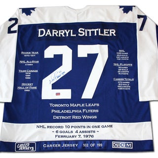 NHL Toronto Maple Leafs Darryl Sittler Career Jersey