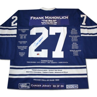 Toronto Maple Leafs Frank Mahovlich Career Jersey