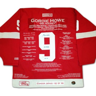 NHL Detroit Redwings Gordie Howe Career Jersey