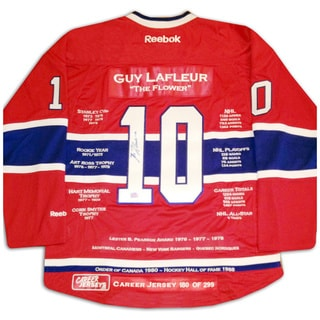 NHL Montreal Canadiens Guy Lafleur Career Jersey