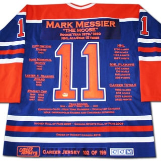 NHL Edmonton Oilers Mark Messier Career Jersey