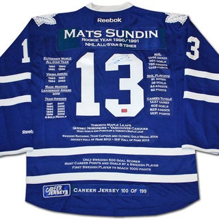 NHL Toronto Maple Leafs Mats Sundin Career Jersey