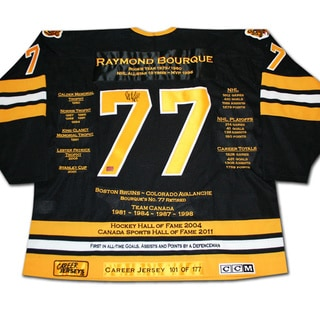 NHL Boston Bruins Ray Bourque Career Jersey