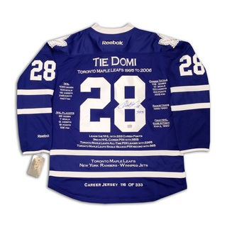 NHL Toronto Maple Leafs Tie Domi Career Jersey