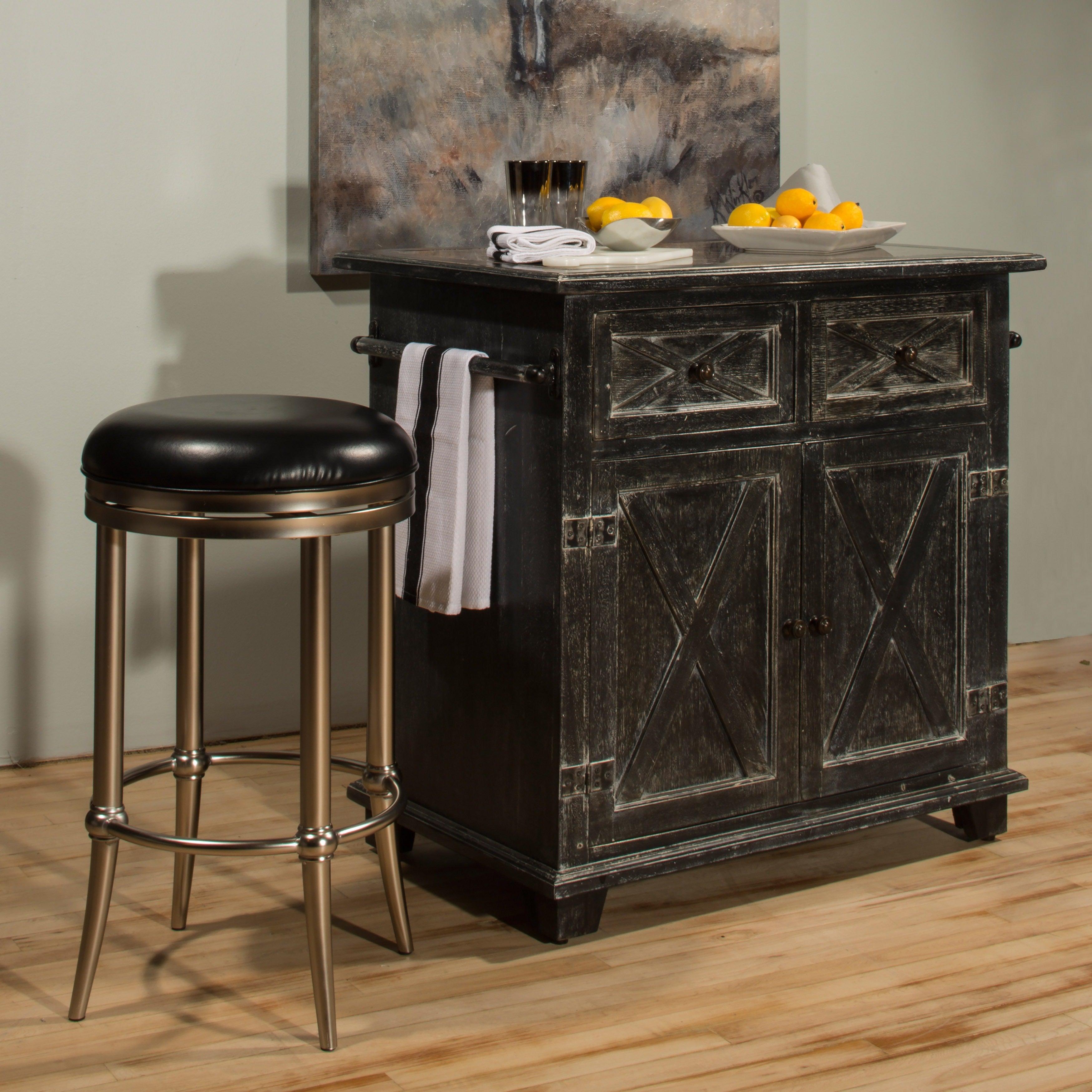 Hillsdale Furnitureu0026#x27;s Bellefonte X Design Rustic Black Kitchen Island