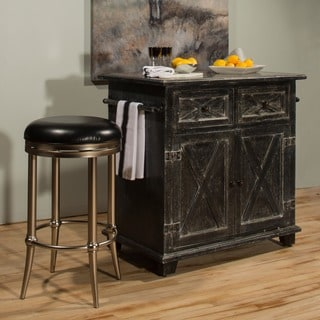 Hillsdale Furniture's Bellefonte X Design Rustic Black Kitchen Island