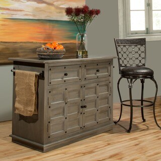 Hillsdale Furniture's Camargo Rustic Gray Kitchen Island