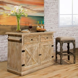 Hillsdale Furniture's Carter Weathered Sandy Beige Kitchen Island