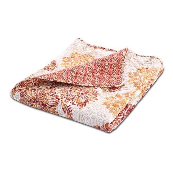 Greenland Home Fashions Tuscany Cotton Quilted Throw
