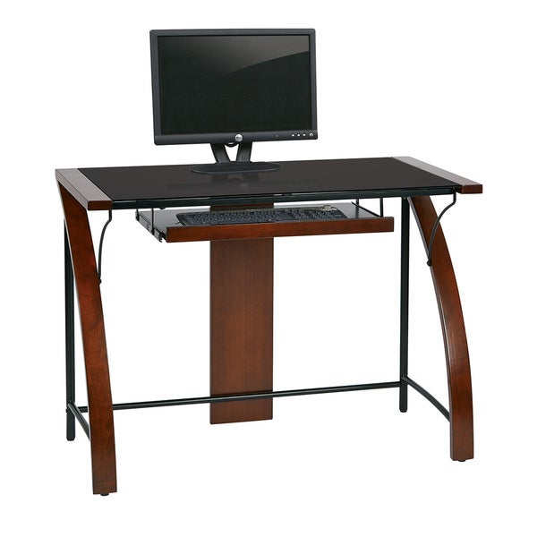 Emmet 40 inch puter Desk with cherry finish Free