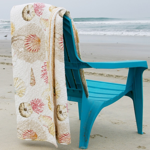 Greenland Home Fashions Castaway Coastal Cotton Quilted Throw