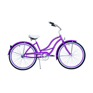 Micargi Tahiti Women's 26-inch Purple Beach Cruiser Bike