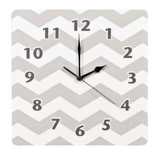 Trend Lab Dove Grey Chevron Wall Clock