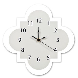 Trend Lab Grey Quatrefoil Wall Clock