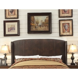 Moser Bay Furniture Chavelle Bonded Leather Upholstery Queen Headboard With Wingback