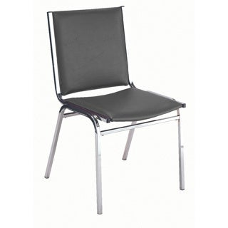 KFI 410 Armless Stacking Chair- Black Vinyl