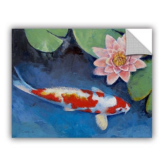 ArtWall Michael Creese ' Koi And Water Lily ' Art Appealz Removable Wall Art