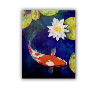 ArtWall Michael Creese ' Kohaku Koi And Water Lily ' Art Appealz Removable Wall Art