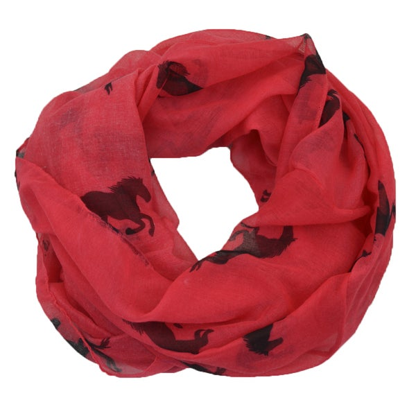 LA 77 Galloping Horse Print Scarf. Opens flyout.