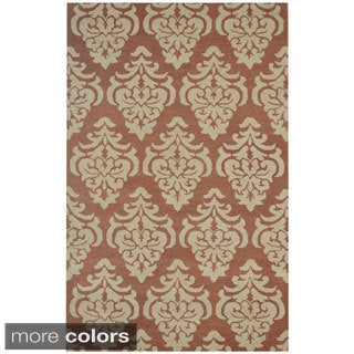 Rizzy Home Floral Green Bradberry Downs 100-percent Wool Hand-Tufted Accent rug (5' x 8')