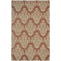 Rizzy Home Floral Green Bradberry Downs 100-percent Wool Hand-Tufted Accent rug - 8' x 10'