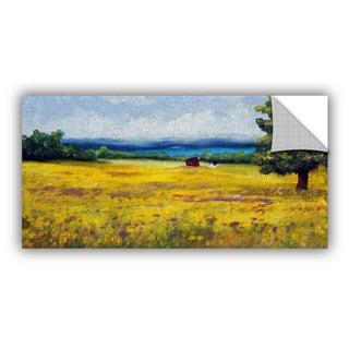 ArtWall Meaghan Troup ' Lake Side Mustard Field ' Art Appeals Removable Wall Art