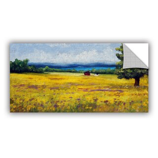 ArtWall Meaghan Troup ' Lake Side Mustard Field ' Art Appeals Removable Wall Art