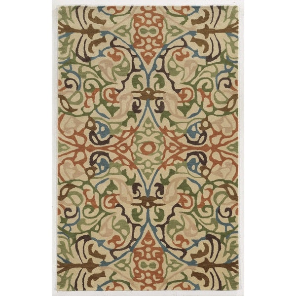 Shop Rizzy Home Floral Ivory Bradberry Downs 100-percent
