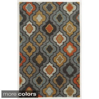 Rizzy Home Geometric Tan Bradberry Downs 100-percent Wool Hand-Tufted Accent rug (2' x 3')