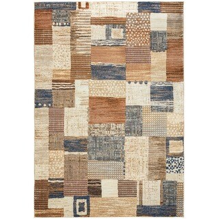 Rizzy Home Geometric Grey Bennington Collection Beige Accent Rug (6' 7 x 9' 6)