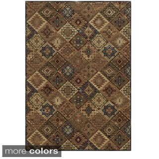 Rizzy Home Geometric Tan Bennington Collection Beige Accent Rug (6' 7 x 9' 6)