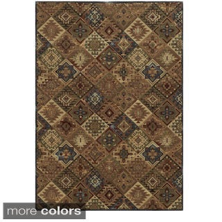 Rizzy Home Geometric Tan Bennington Collection Beige Accent Rug (9' 10 x 12' 6)