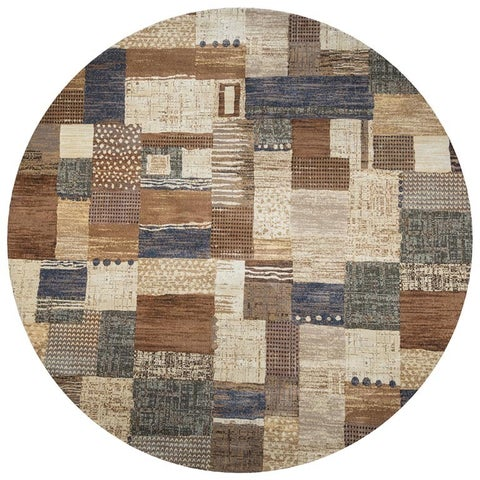 Rizzy Home Geometric Grey Bennington Collection Beige Accent Rug - 9' x 12'