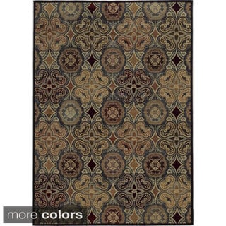 Rizzy Home Geometric Blue Bennington Collection Beige Accent Rug (7' 10 x 10' 10)