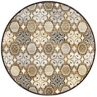 Rizzy Home Geometric Blue Bennington Collection Beige Accent Rug - 9' x 12'