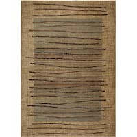Rizzy Home Stripe Beige Bellevue Collection Accent Rug (5'3 x 7'7) - 5'3 x 7'7